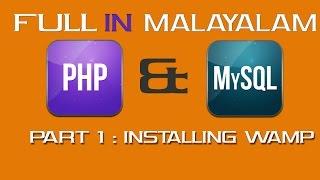 PHP FULL TUTORIAL(In MALAYALAM) : Installing Wamp
