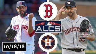Boston Red Sox vs Houston Astros Highlights || ALCS Game 5 || October 18, 2018