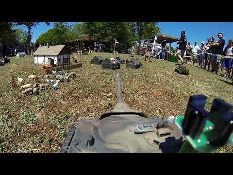 RC Tank Forum Hungary - HMFest 2o15 - RC Tank Battle [ GoPro / FPV ]