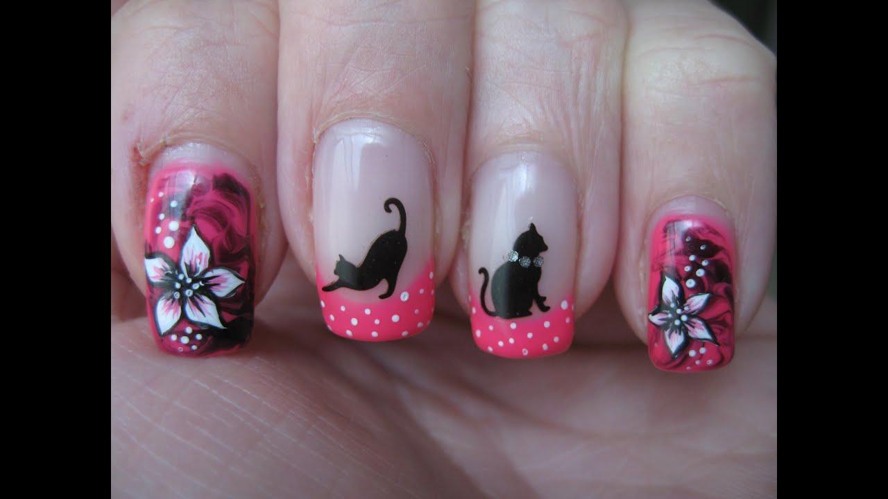 Ногти рисунки кошек фото и
