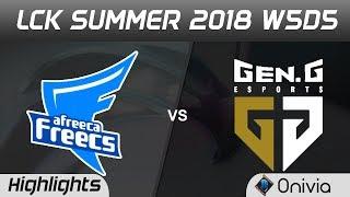 AFS vs GEN Highlights Game 1 LCK Summer 2018 W5D6 Afreeca Freecs vs Gen G Esports by Onivia