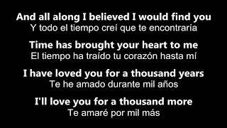 Download lagu ♥ A Thousand Years ♥ Mil Años ~ by Christina Perri - Letras en inglés y español