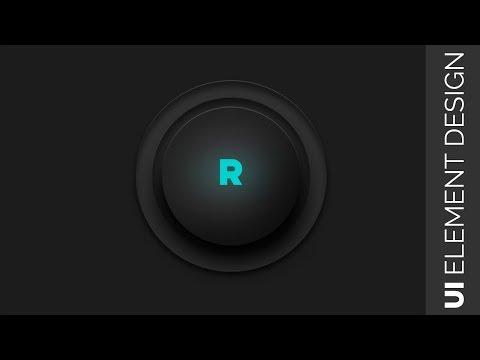 UI Element Design   ui design tutorial for beginners photoshop   Button Design