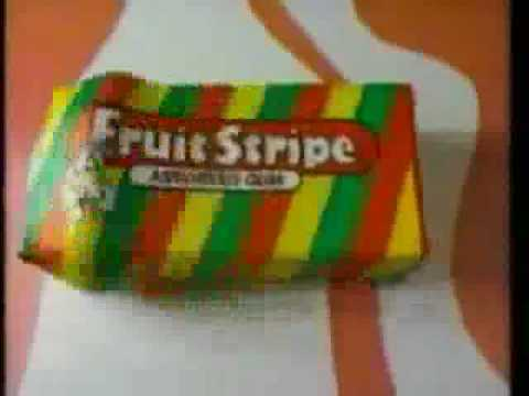 Fruit Stripe Gum Commercial from 1991