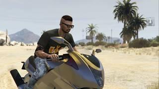 PARKOUR MOTO CARRERA FACIL GTA V Grand Theft Auto V PS4 GAMEPLAY