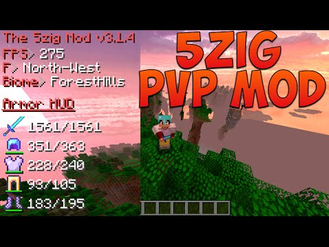 Minecraft   How to install 5zig PvP Mod and Optifine and Review (1.8.8)