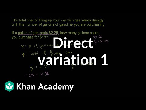 Direct Variation 1