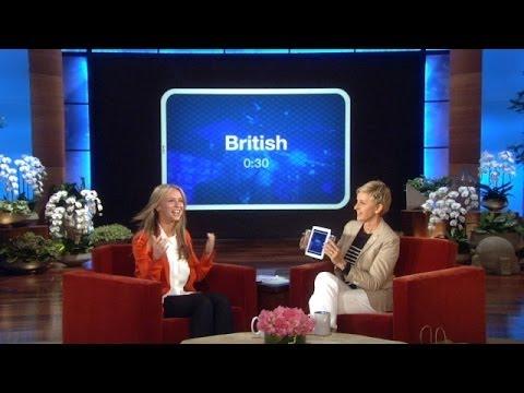 Jennifer Love Hewitt Plays 'Heads Up!' with Ellen