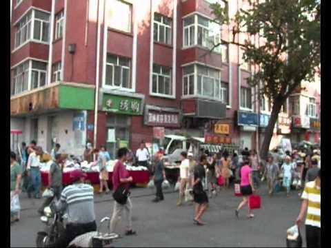 Morning market at Harbin, 2011