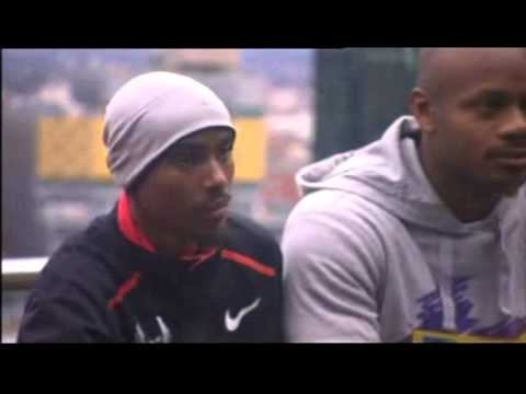 Asafa Powell and Mo Farah ready for Birmingham's Aviva Grand Prix (BBC1 W Mids coverage)