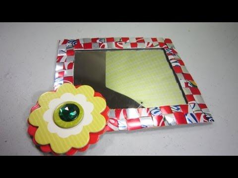 Episodio 545 c mo decorar un espejo para el locker youtube for Manualidades para decorar espejos