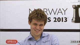 Magnus Carlsen Press Conference Norway Chess 2013