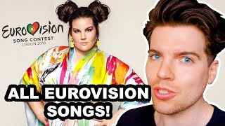 EUROVISION 2018 REACTION TO ALL SONGS (+MY TOP 5)