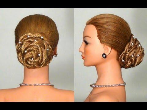 Вечерняя прическа с накладными прядями! Hairstyle with extensions!