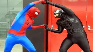 Spiderman PLAYTIME w/ Venom (Real Life) - FUN Playground