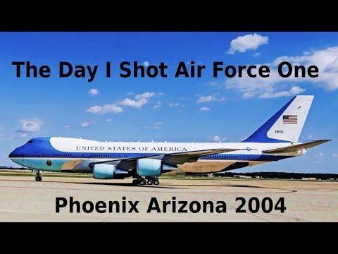 Air Force One - Arrives In Phoenix Arizona 2004