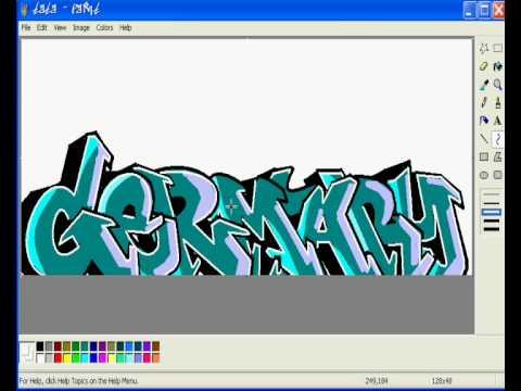 germary graffiti on ms paint MSPAINT - YouTube