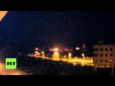 Ukraine: BREAKING - HUGE EXPLOSIONS AS UKRAINIAN ARTILLERY HITS DONETSK AIRPORT AREA