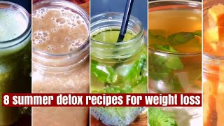 8 Summer Detox Recipes | Easy Healthy Detox Tea, Water, Smoothie, Soup | For Weight Loss, Cleansing