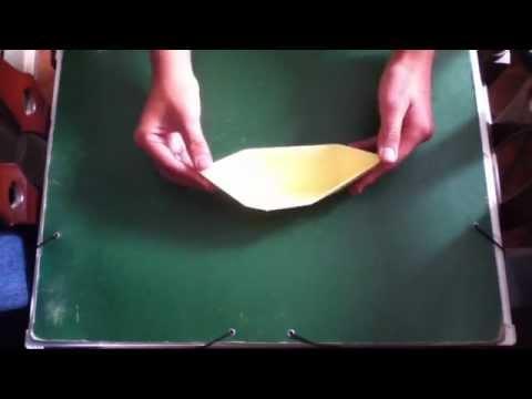 Bote de papel - Origami para niños
