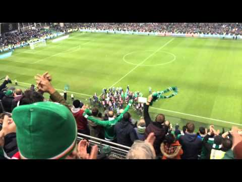 Ireland v Bosnia and Herzegovina 2015 - Post-match celebrations