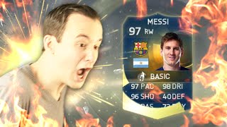 TOTS MESSI IN FIFA 15 PACK OPENING WITH SISTER!!