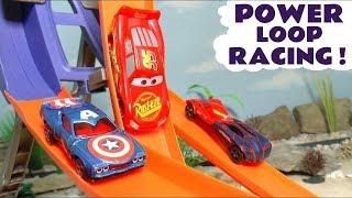 Disney Pixar Cars Power Loop Race with Hot Wheels Avengers Superheroes and McQueen