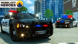 Sergeant Lucas the Police Car stops Dump Truck - Wheel City Heroes (WCH) - Cars Cartoon Series