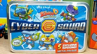 SuperZings Serie 2 UNBOXING Exclusivos Metalizados Serie 2   Lata CYBER SQUAD