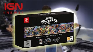 Super Smash Bros Ultimate Limited Edition Comes with GameCube Controller - IGN News