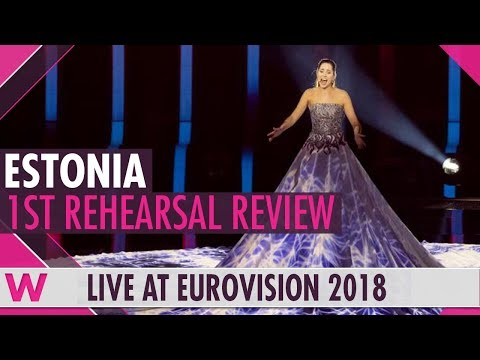"Estonia First Rehearsal: Elina Nechayeva ""La Forza""  @ Eurovision 2018 (Review) | wiwibloggs"