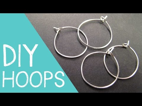 DIY Hoop Earrings / Wine Charm Rings Wire Jewelry Tutorial