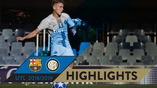 BARCELONA 2-1 INTER | HIGHLIGHTS | Matchday 03 - UEFA Youth League 2018/19