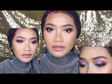 Blue Smokey Eye Cut Crease | Ummu habibah - YouTube