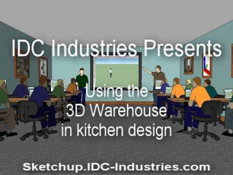 Using the 3D Warehouse in kitchen design