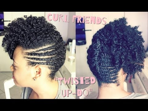 The CurlFriends Series | Funky Up-Do on Natural Hair