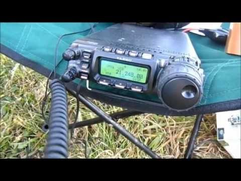 DL1DN ham radio extreme: QSOs with antenna lying on the ground