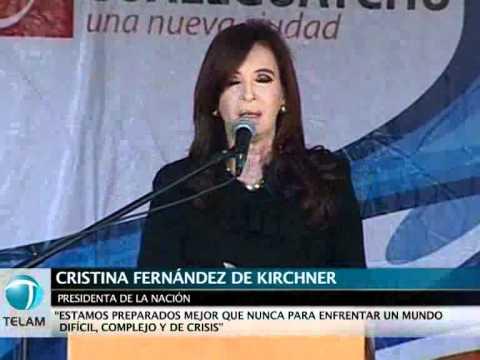 Cristina: Argentina está mejor que nunca para enfrentar un mundo en crisis