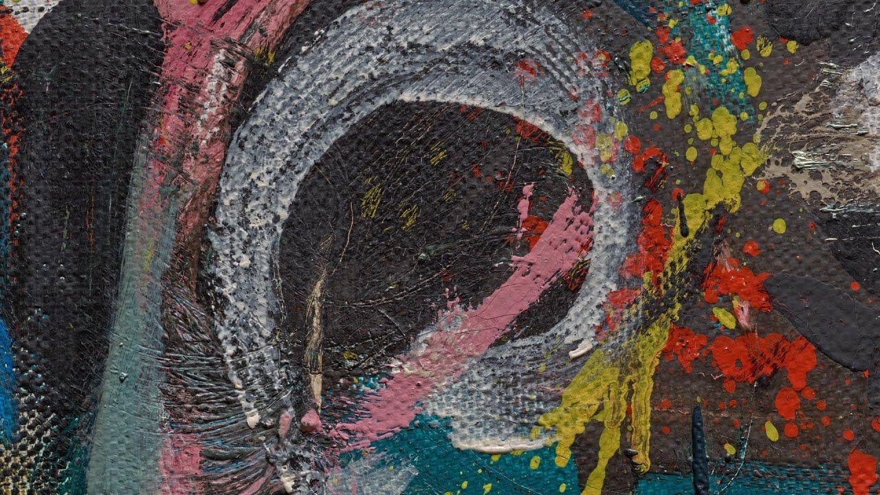 Paint analysis of jackson pollock 39 s mural youtube for Mural jackson pollock