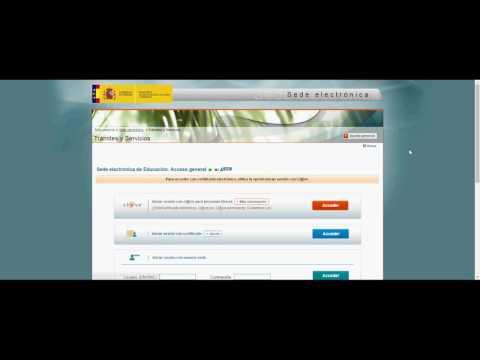 Estudios universitarios. Registro en la Sede Electrónica