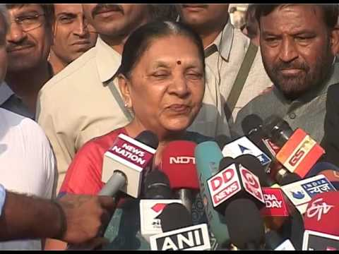 Gujarat CM Anandiben Patel casts vote, speaks to media in Ahmedabad