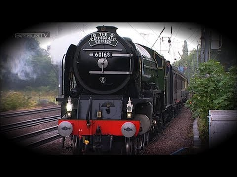 "The Cathedrals Express 60163 'Tornado"" passes through Hitchin at 09.15am after leaving Stevenage on the north bound journey to York Saturday Morning (slight ..."