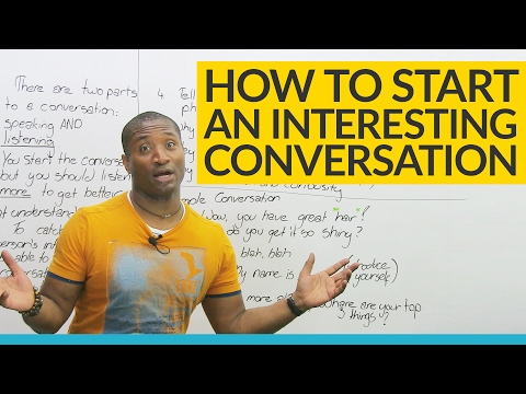 """How to start a conversation: 5 things to say after """"hello"""""""