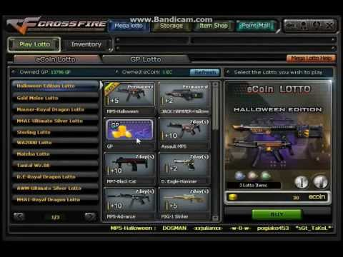 CrossFire Philippines : How to win Mega Lotto Weapons?