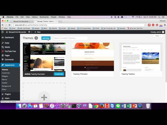 How To Change Themes Website on Wordpress