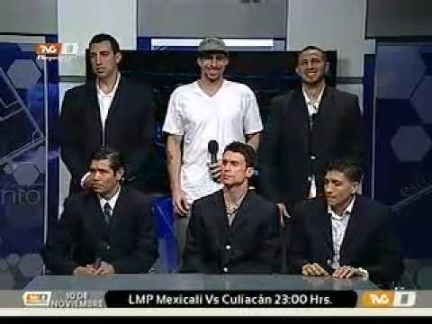 La Selección Mexicana de Basquetbol visita el estudio de TVC Deportes Total (09-11-2011)