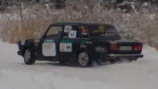 Modified VAZ 2107 Powersliding on Snow I Winter Rally Sprint 2012