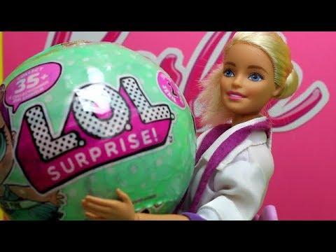 Барби доктор  и куклы LOL Surprise