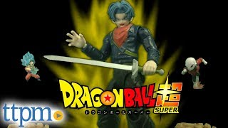 Dragon Ball Z Super Future Trunks and Super Saiyan Blue Goku Vs. Jiren from Bandai