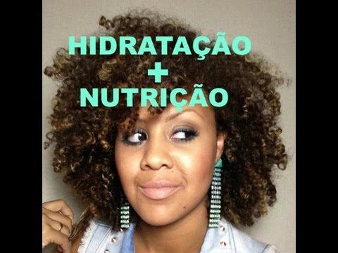 Hidrata��o+Nutri��o para Cabelos Crespos/Cacheados/Afros
